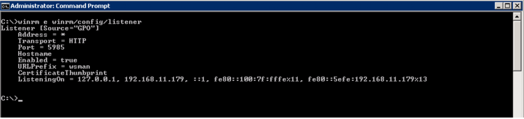 How to enable WinRM - Step 13