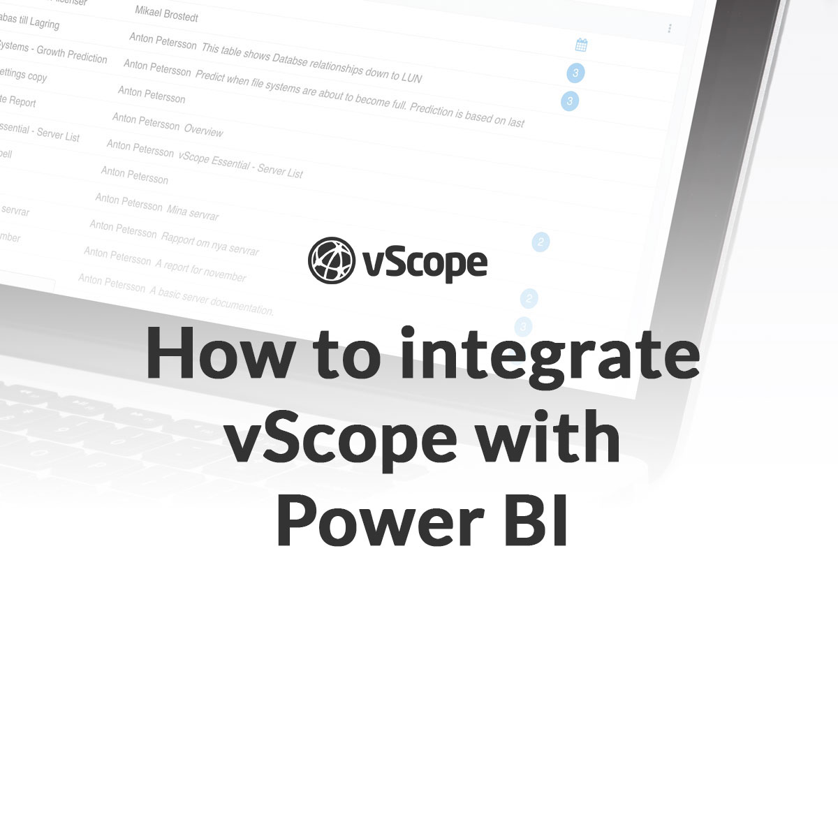 vscope power bi